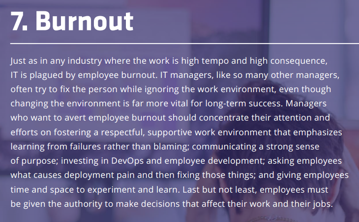2015 state of devops report, burnout