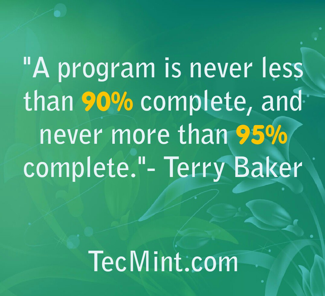 tecmint_program_is_never_complete